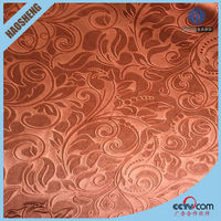 Modern style polyester curtain fabric plain jacquard fabric for curtain