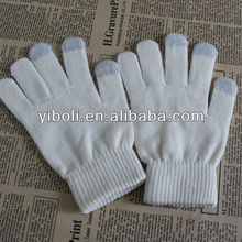 Professional manufactuter supply gray finger touch screen compactive glove