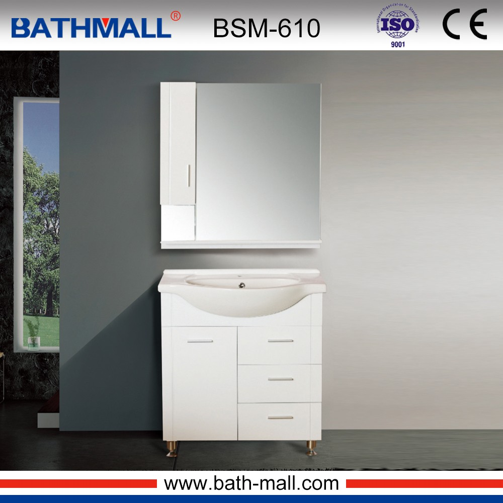 Portable indoor bathroom cabinet made of PVC for bathroom