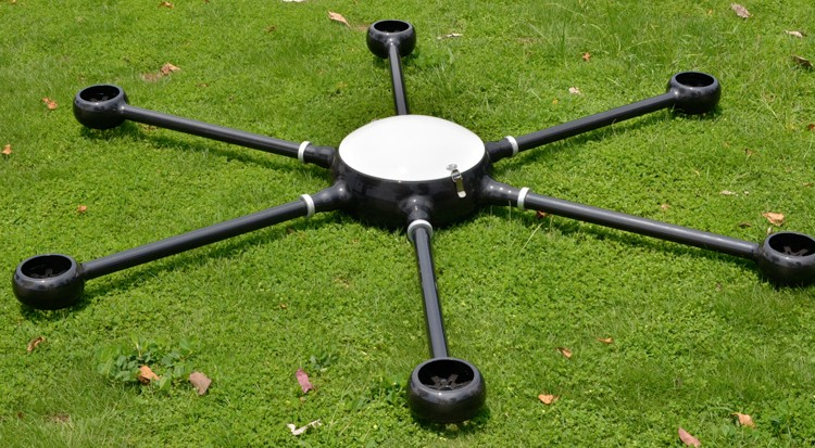 Custom made carbon fiber UAV frame for agriculture drone helicopter profesional