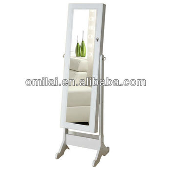 fashional mirror armoire with jewelry cabinet inside