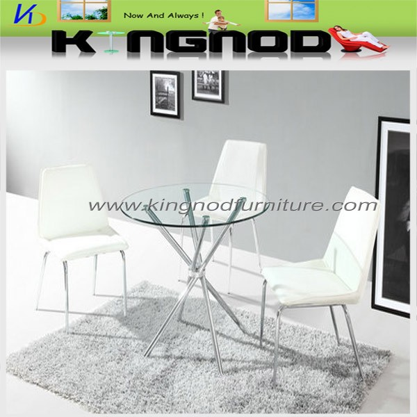 Indian glass table top Round Glass Dining Table And 6 Chairs
