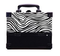 Zebra pattern fashion PU leather cosmetic case with lock&key RZ-SC-030