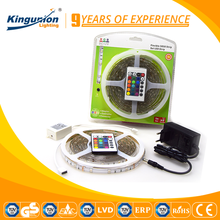 Trade Assurance Kingunion LED Strip RGB 5050 led strip Blister package solar powered led strip lights CE&RoHS Approved