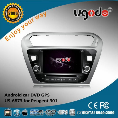 Android 4.4 wifi 3g mirror link 1 din car dvd for peugeot 301
