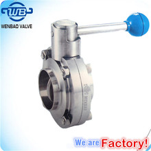 Welded Stainless steel Sanitary Butterfly Valves Price