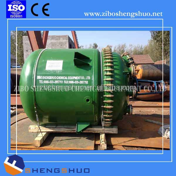 Pressure vessel jacketed glass lined reactor for petrochemical and biochemical by China manufacturer