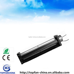8inch 12V small tangential ventilator dc fan motor, 50mm x 190mm cross-flow industry exhaust fan with PWM speed control