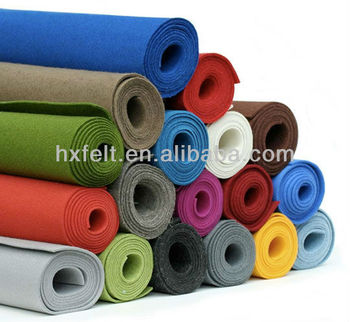 HOT! High quality Felt with many colors and thickness in stock