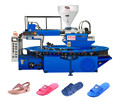 Single color PVC air blowing slipper machine / PVC crystal shoe injection molding machine