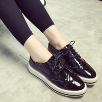 2014 small MOQ leather school shoes,school shoes