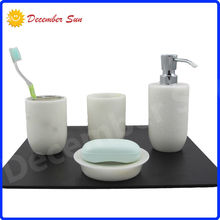 hi life fancy white marble bath gift accessory set