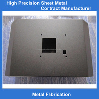 Black powder coated bending sheet metal fabrication service