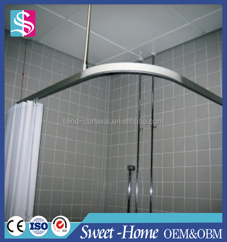 Stainless Steel Adjustable Curved Shower Curtain Rod