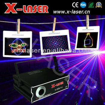 2W RGB full color Animation laser light with SD+2D+Grating Pattern(635nm Red light)
