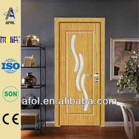 2015 Zhejiang AFOL glass interior PVC door (Top quality,quickly lead time.Reasonable price)