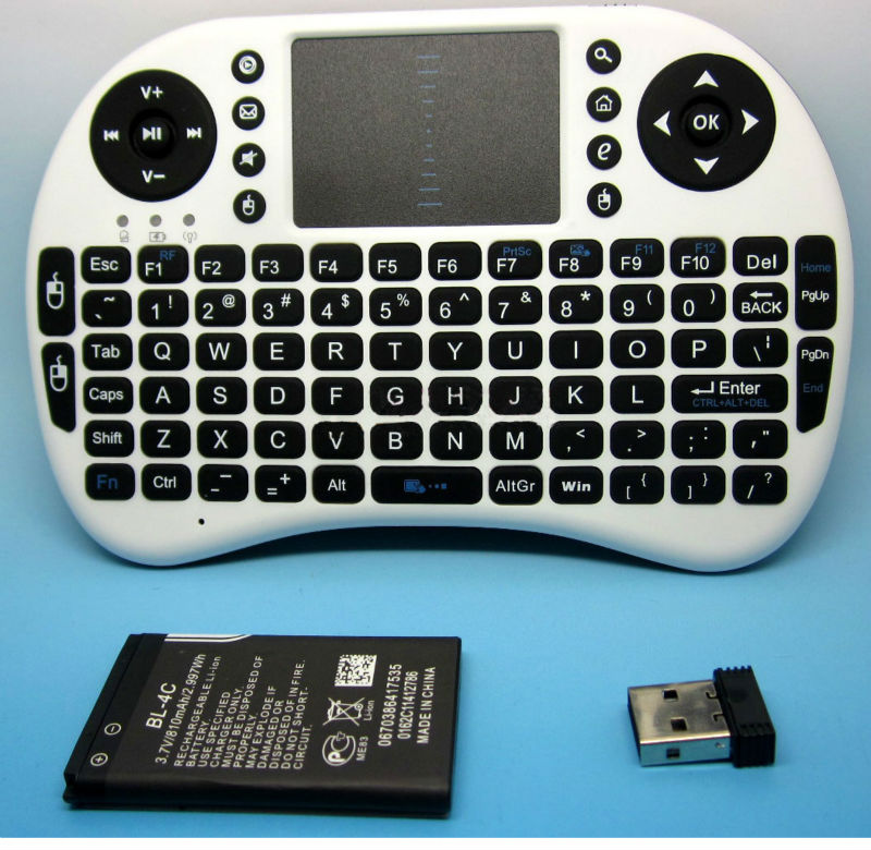 92 Keys 2.4GHz Mini Portable Wireless Keyboard Keypad with Touchpad Mouse Combo