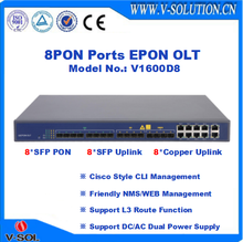 8PON GEPON OLT Support 10G Uplink, Layer 3 Function with Friendly CLI/EMS/Web Managements