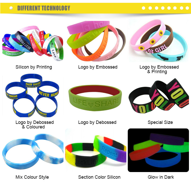 Professional made wholesale  customized silicon wristband for festival