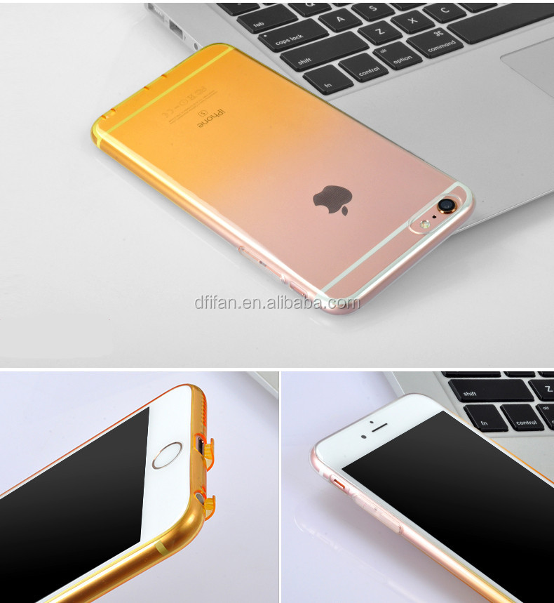 DFIFAN For iphone 6s slim covers tpu clear color,unique color pattern ultra thin cases for iphone 6 cover