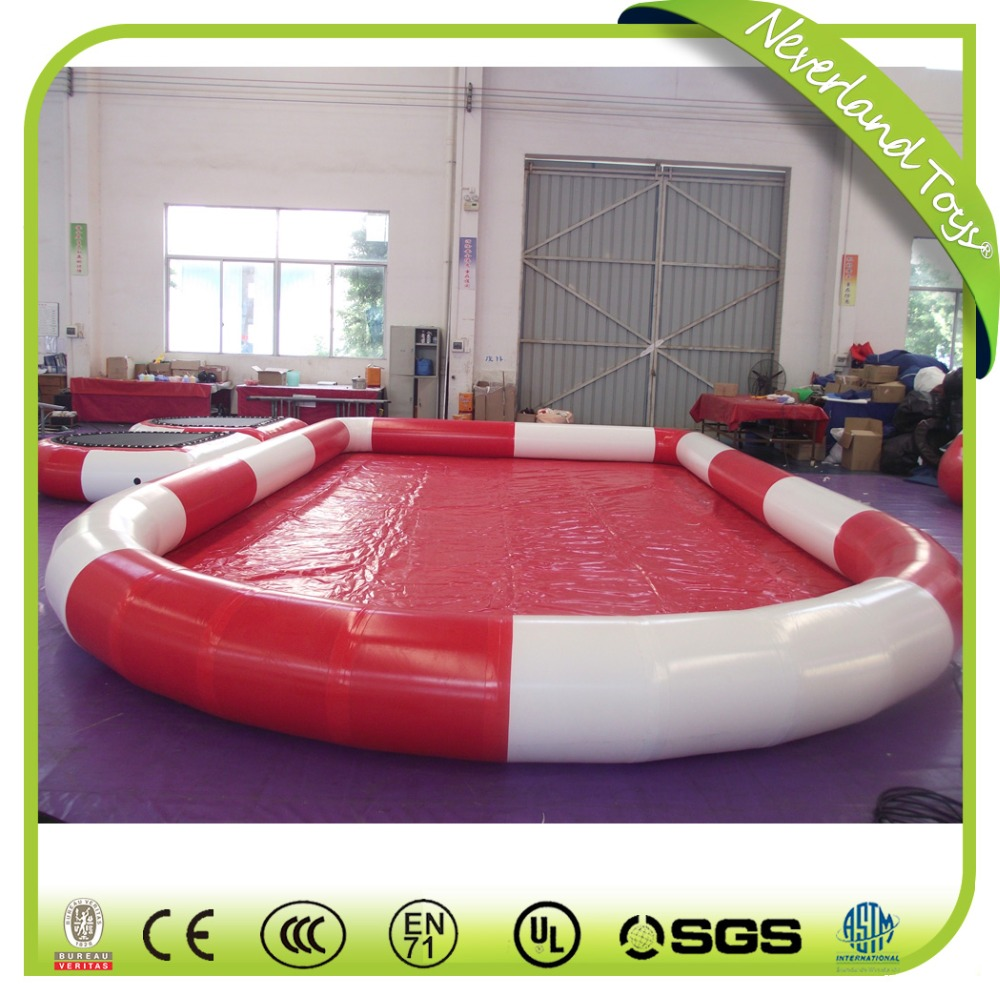 Customized Inflatable Swimming Pool With Platform for sale