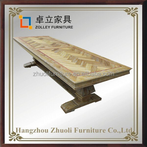 New deisgn solid wood panel board 3 meter long dining table