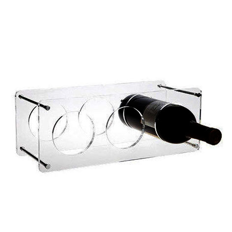 Wholesales new design good quality acrylic display stand wine rack