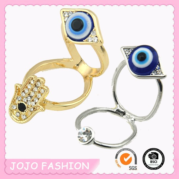 Evil eye knuckle two in one ring for sale