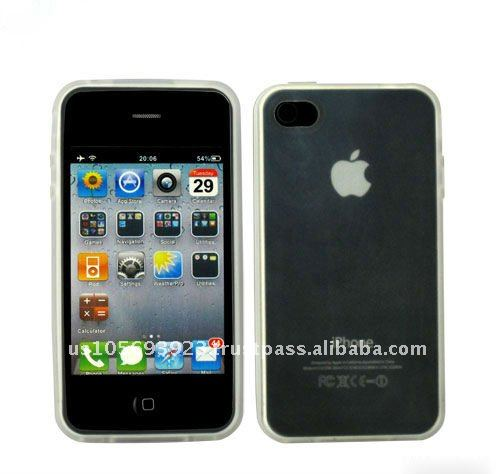 for Apple Iphone 4 transparent case with TPU