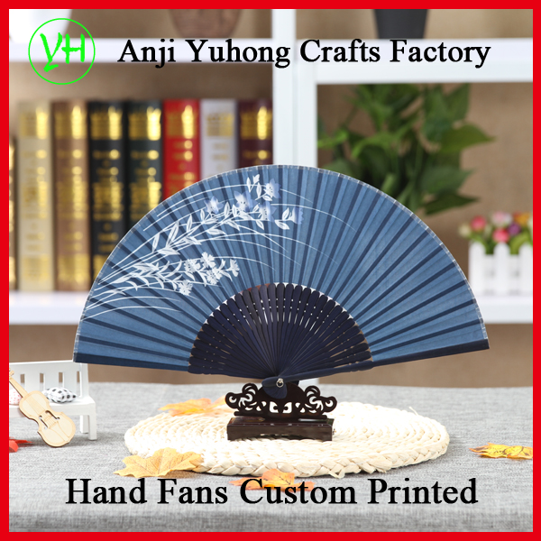 100% Real Silk Bamboo Hand Fans for wedding hand fans best hand held fans