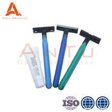 OEM Disposable Hotel Daily Used Or Travel Shaving Razor Amenities Kits