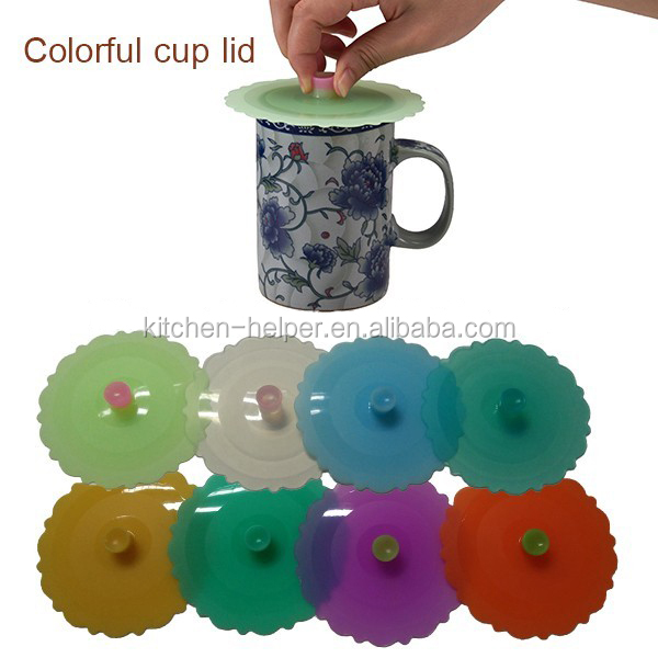 Wholesale Products Silicone Ceramic Coffee Cup Lid and Cover,Coffee Tea Mug Silicone Cup Lid Cover