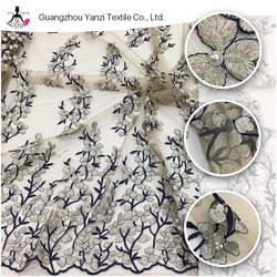 New lace design dress materials flower bridal embroidery hand beaded lace fabric