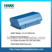 NiMH Battery 14.4V 4500mAh Replacement Battery for iRobot Scooba 330 350 380 5800 5900 6000 6050 Roomba