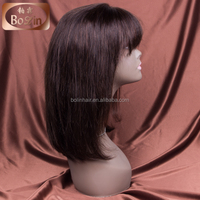 Best Selling 8A Grade 100% India Remy Human Hair Full Lace Front Wigs