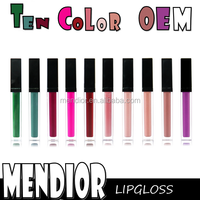 Mendior 2017 private label cosmetic lipstick high quality matte liquid waterproof lipstick