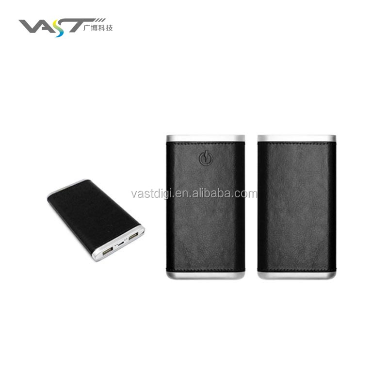 2016 Best electronics product leather power bank USB portable slim power bank 4000mAh 6000mah
