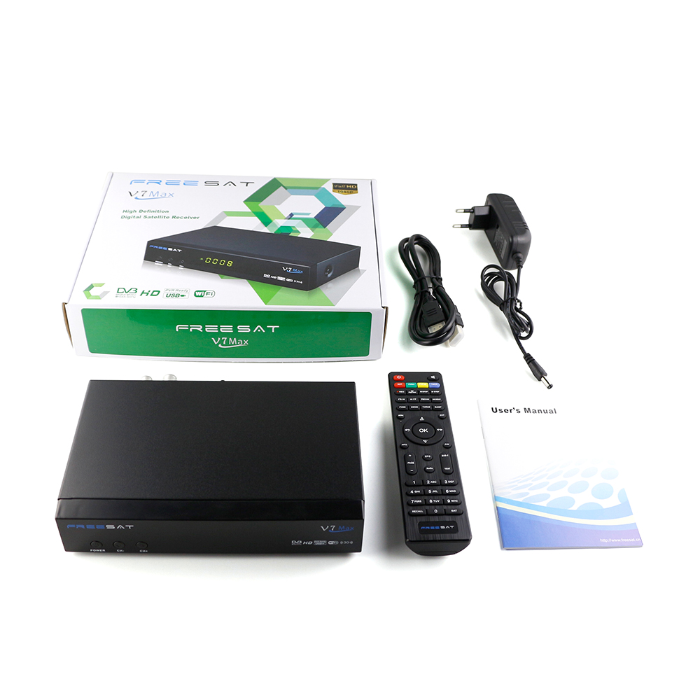 Set Top Box Freesat V7 Max DVB-S2 hd receiver Satellite TV Receiver Full in Stock