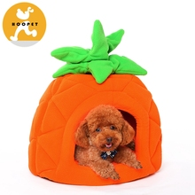 Cute Soft Carrot Pet Bed Crib Dog Cave Tree House