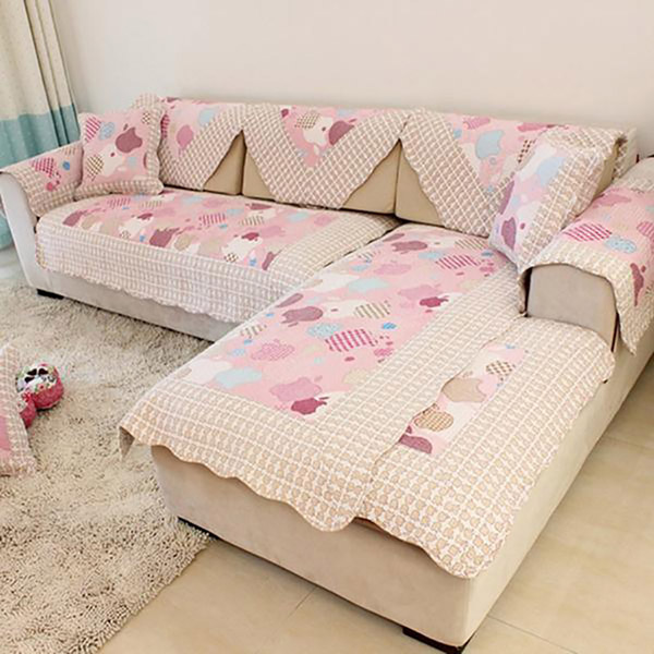 High class beautiful design lace sofa cover