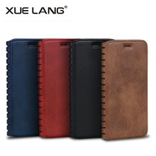 Leather Flip Mobile Phone Case with Wallet Stand Card Back Cover Case for iphone