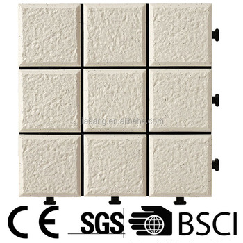 building material Foshan supplier slip resistant Ceramic interlocking floor porcelain tile