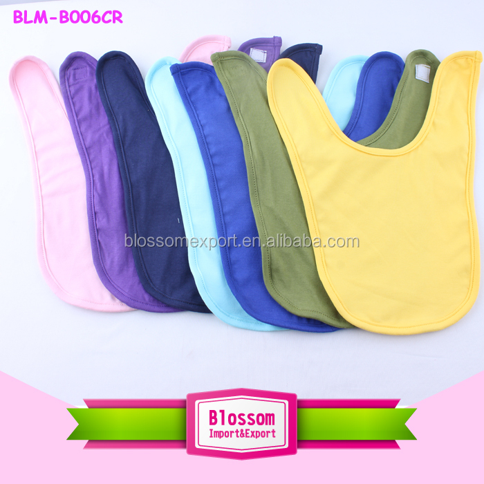 Wholesale toddler drool bib unisex baby bib manufacturer cotton baby bib blank