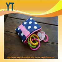 Blue And Pink Polka Dot Baby Pacifier Bag,Baby Pacifier Clip,Baby Pacifier Holder