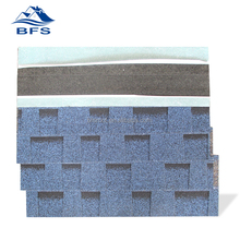 supply 5.2mm thickness decorate colorful South Africa Steel Villa self adhesive roof shingles