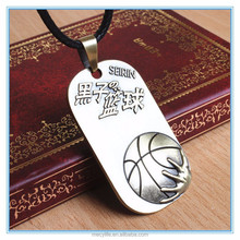 MECY LIFE Stainless Steel Ball Dog Tag Vintage Basketball Necklace