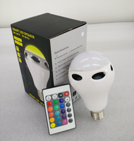 hot sell remote control stereo audio led light bulb wireless bluetooth speaker