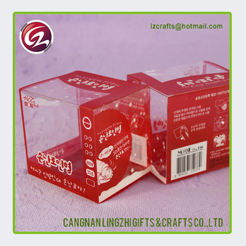 Low cost pvc folding candy packing box