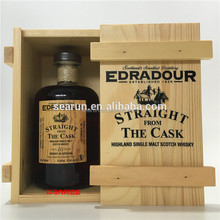 Wood Box&Crates Product Type and Europe Regional Feature single bottle wooden whisky wine box