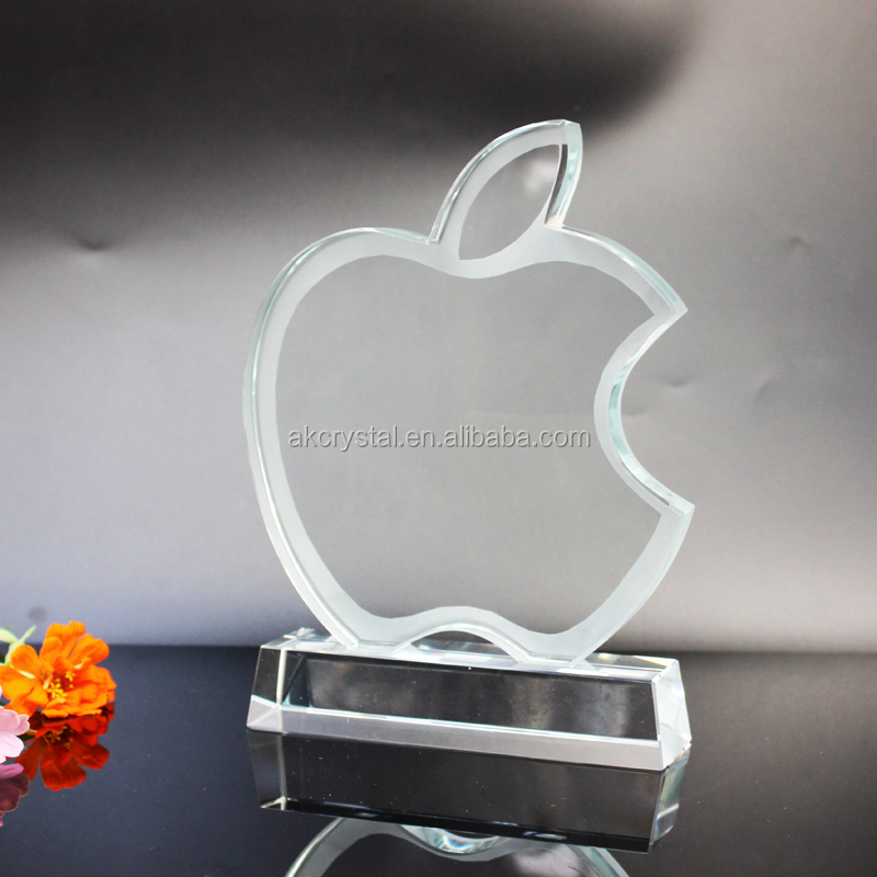 Apple shape jade awards from factory